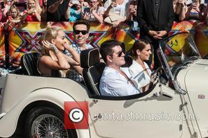 Rita Ora, Nick Grimshaw, Cheryl Cole, Cheryl Fernandez-versini and Simon Cowell