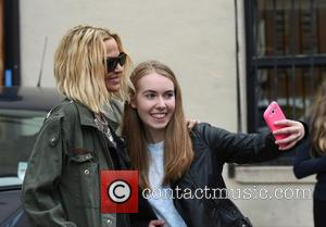 Sarah Harding - Sarah Harding posing for pictures with fans at Imagine FM Radio in Stockport where she was promoting...