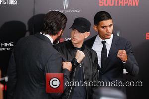 Jake Gyllenhaal, Eminem and Miguel Gomez