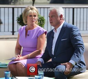 Ruth Langsford and Eamonn Holmes - Ruth Langsford and Eamonn Holmes filming on the Southbank - London, United Kingdom -...