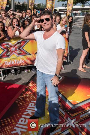 Simon Cowell - X Factor auditions at the Wembley Arena - Arrivals. at x factor, Wembley Arena - London, United...