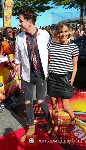 Nick Grimshaw and Caroline Flack - X Factor London auditions at The SSE Arena at Wembley - Arrivals at The...