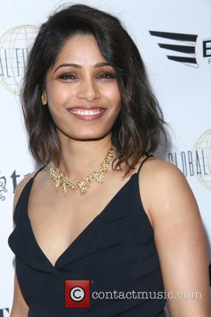 Freida Pinto - 'The Effects of Blunt Force Trauma' screening - Arrivals at CAA - Los Angeles, California, United States...