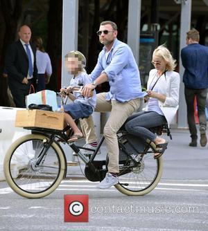Liev Schreiber, Naomi Watts and Samuel Kai Schreiber