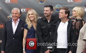 George Hamilton, Alana Stewart, Ashley Hamilton, Sean Stewart and Kimberly Stewart