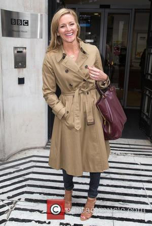 Gabby Logan - Gabby Logan pictured leaving the Radio 2 studio after promoting her new series Flockstars at BBC Western...