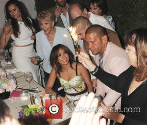 Jennifer Lopez, Casper Smart and Benny Medina - Jennifer Lopez celebrates her 46th birthday with her friends and family in...