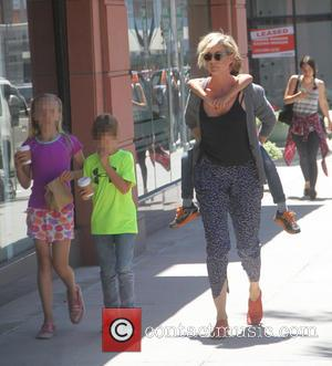 Jenna Elfman and Story Elfman at Beverly Hills