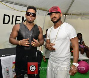 Bobby V and Xavier Lewis - Overtown Music and Arts Festival - Backstage - Miami, Florida, United States - Saturday...