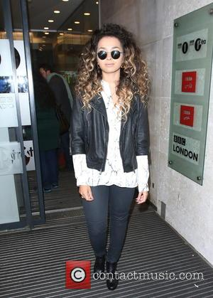 Ella Eyre - Ella Eyre dresses casual as she arrives at BBC Radio 1 for an interview with Cel Spellman...
