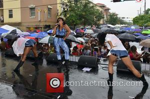 Miamarie Mana, R&B singer Mya, Brettnie Blake and Mýa Harrison - Overtown Music and Arts Festival - Performances - Miami,...
