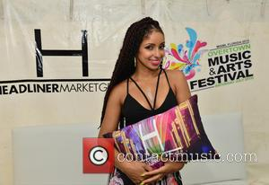 R&B singer Mya and Mýa Harrison - Overtown Music and Arts Festival - Backstage - Miami, Florida, United States -...