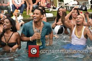 Trey Songz - Trey Songz and J.R. filming a video for 'That's My Best Friend' at a private estate in...