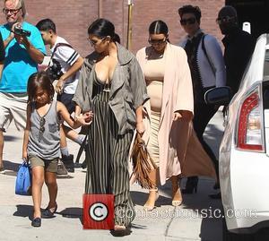 Corey Gamble, Kim Kardashian, Kris Jenner, Kourtney Kardashian and Mason Disick