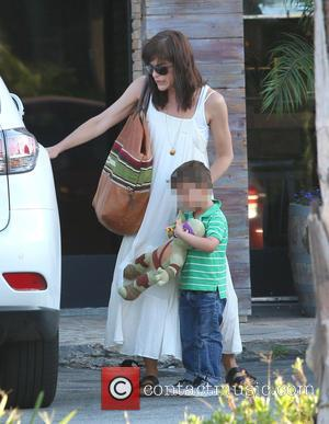 Selma Blair and Arthur Bleick - Selma Blair and her son Arthur leaving The Six Restaurant in Studio City at...