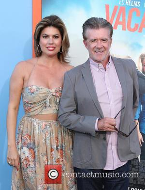 Alan Thicke and Tanya Callau - Premiere Of Warner Bros. Pictures'