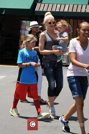 Gwen Stefani, Kingston Rossdale and Apollo Rossdale - Gwen Stefani shops at Whole Foods with her kids in Burbank -...