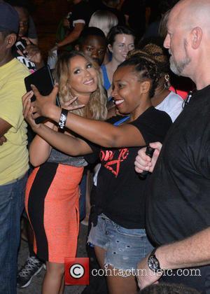 Adrienne Bailon - Filming episode of Fox reality show 'Knock Knock: Live' - Philadelphia, Pennsylvania, United States - Tuesday 28th...