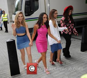 Little Mix, Jade Thirlwall, Perrie Edwards, Leigh-Anne Pinnock and Jesy Nelson - Little Mix arrive at the BBC Radio 1...