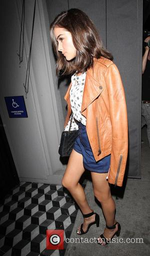 Olivia Culpo - Olivia Culpo, wearing denim shorts and a tan leather jacket, arrives at Craig's in West Hollywood -...