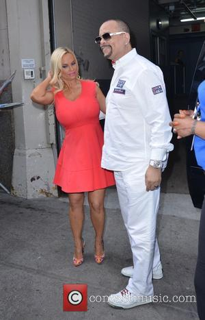 Coco Austin and Ice T - Coco Austin and Ice T leaving the Huffington Post - Manhattan, New York, United...