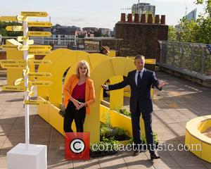 Joanna Lumley and Marc Bolland