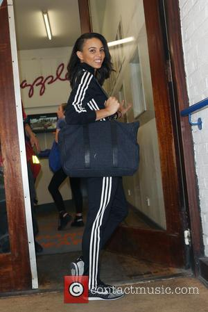 Louise Hazel - Former Olympic athlete and Commonwealth champion Louise Hazel arrives at her weekly fitness class at Pineapple Dance...