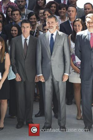 Spain's King Felipe VI - Spain's King Felipe VI attends the 40th anniversary of the ICEX Business Internationalizing Grants in...