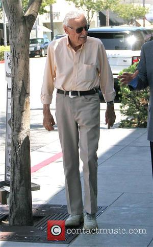 Stan Lee - Comic Book Writer Stan Lee  out and about in Beverly Hills - Los Angeles, California, United...