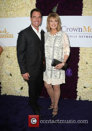 Mark Steines and Cristina Ferrare - Hallmark Channel and Hallmark Movies & Mysteries Summer Press Tour at Private Residence -...