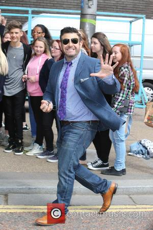 Adam Richman - Adam Richman and Only The Young outside ITV Studios - London, United Kingdom - Wednesday 29th July...