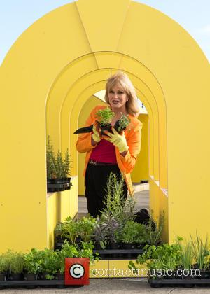 Joanna Lumley - Joanna Lumley working on a children's allotment on a rooftop in London, part of a new vibrant...