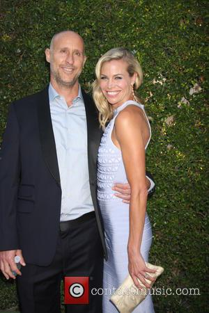 Brooke Burns and husband - Hallmark Channel Summer TCA 2015 Party at Private Residence - Beverly Hills, California, United States...