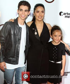 Cameron Boyce, Salma Hayek and daughter Valentina Paloma