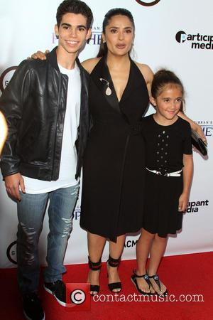 Cameron Boyce, Salma Hayek and daughter Valentina Paloma - Kahlil Gibran's The Prophet Special Screening held at LACMA's Bing Theatre...