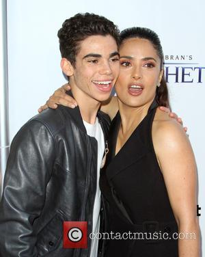 Cameron Boyce and Salma Hayek
