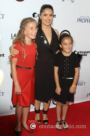 Salma Hayek and daugther Valentina Paloma Pinault - Kahlil Gibran's The Prophet Special Screening held at LACMA's Bing Theatre at...