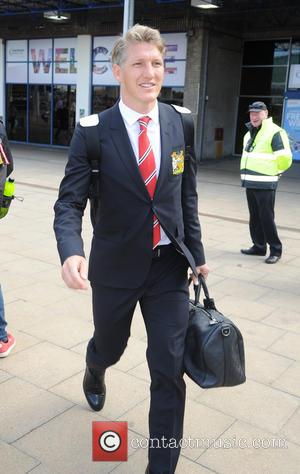 Bastian Schweinsteiger - Manchester United arrive at Manchester Airport after returning from their pre season USA Tour - Manchester, United...
