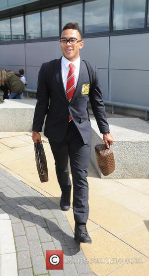 Memphis Depay - Manchester United arrive at Manchester Airport after returning from their pre season USA Tour - Manchester, United...