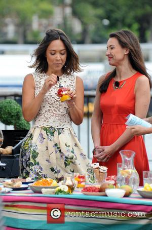 Myleene Klass - Myleene Klass and Adam Richman film on This Morning - London, United Kingdom - Thursday 30th July...