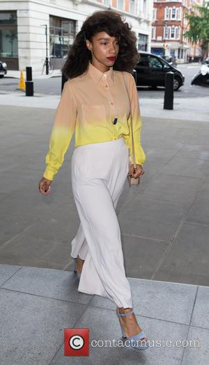 Lianne La Havas - Lianne La Havas arrives at BBC Radio 1 ahead of her performance in the Live Lounge...
