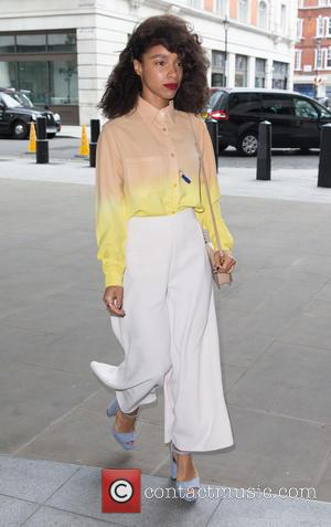 Lianne La Havas - Lianne La Havas arrives at BBC Radio 1 ahead of her performance in the Live Lounge...