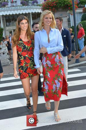 Eva Herzigova , Bianca Brandolini D'adda - Guests arrive for Pierre Casiraghi and Beatrice Borromeo's cocktail reception one day before...