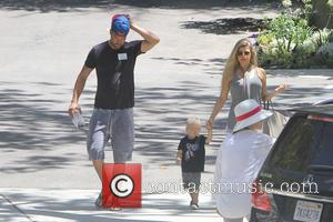 Fergie, Josh Duhamel , Axl Duhamel - Fergie, Josh Duhamel and their son Axl Duhamel head out for a day...