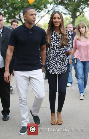 Marvin Humes and Rochelle Humes - Rochelle and Marvin Humes filming on the Southbank - London, United Kingdom - Friday...