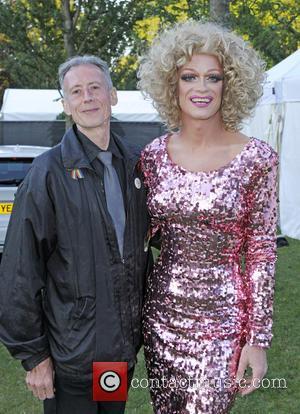Peter Tatchell , Panti Bliss - Brighton Pride 2015 - Backstage at Preston Park - Brighton, United Kingdom - Saturday...