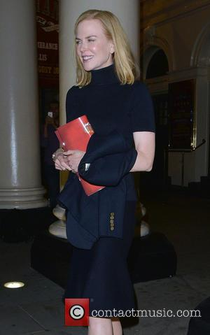 Nicole Kidman - Nicole Kidman leaves the Theatre Royal Haymarket after watching Bradley Cooper perform in 'The Elephant Man' at...