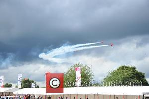 Red Arrows - The last photograph of the Red Arrows before one of the planes crashed at Oulton Park during...