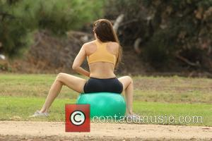 Alicia Arden - 'Hoarding: Buried Alive' star Alicia Arden exercising her yoga moves in a Studio City public park -...