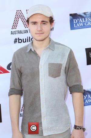 Callan McAuliffe - Australian Theatre Company Summer Pool Party Fundraiser in Brentwood - Arrivals - Los Angeles, California, United States...
